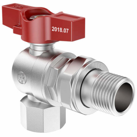 Butterfly Angle Ball Valve with Union FxM, B series