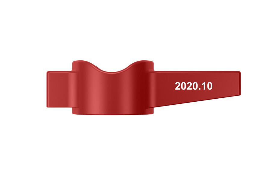 """Червона рукоятка-прапорець для кульових кранів Miraya, серії """"B"""""""