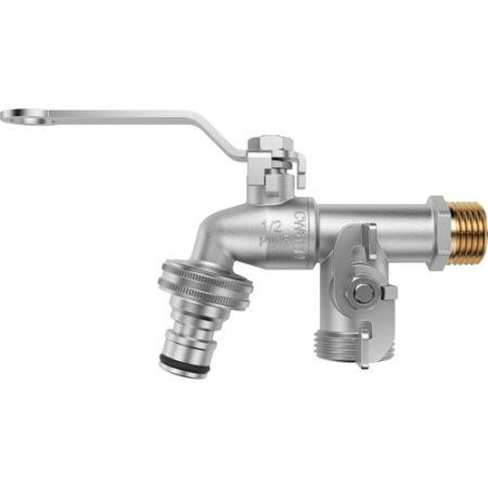 Водорозбірний кран зі швидкознімним конектором для під'єднання шланга і бічним відведенням