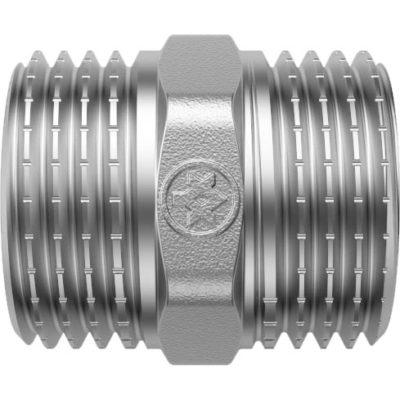 Nickel Plated Double Nippel M/M