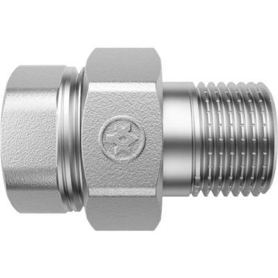 Nickel Plated Stright Union with O-ring F/M