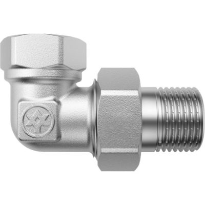 Nickel Plated Angle Union with O-ring F/M