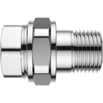 Chrome Plated Stright Union with O-ring F/M