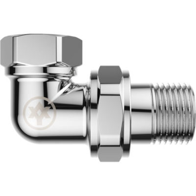 Chrome Plated Angle Union with O-ring F/M