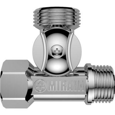 Т-образный шаровой кран для подключения сантехнических приборов