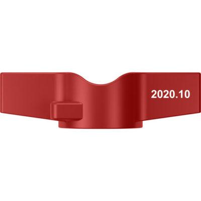 """Червона рукоятка-метелик для кульових кранів Miraya, серії """"B"""""""